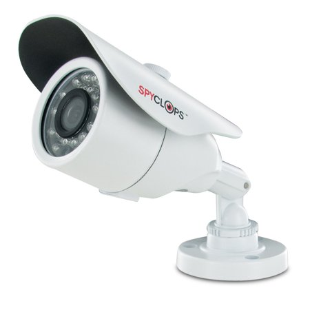 Home Security Camera, Spyclops Mini Bullet-2 Outdoor Home Cctv Camera,  White