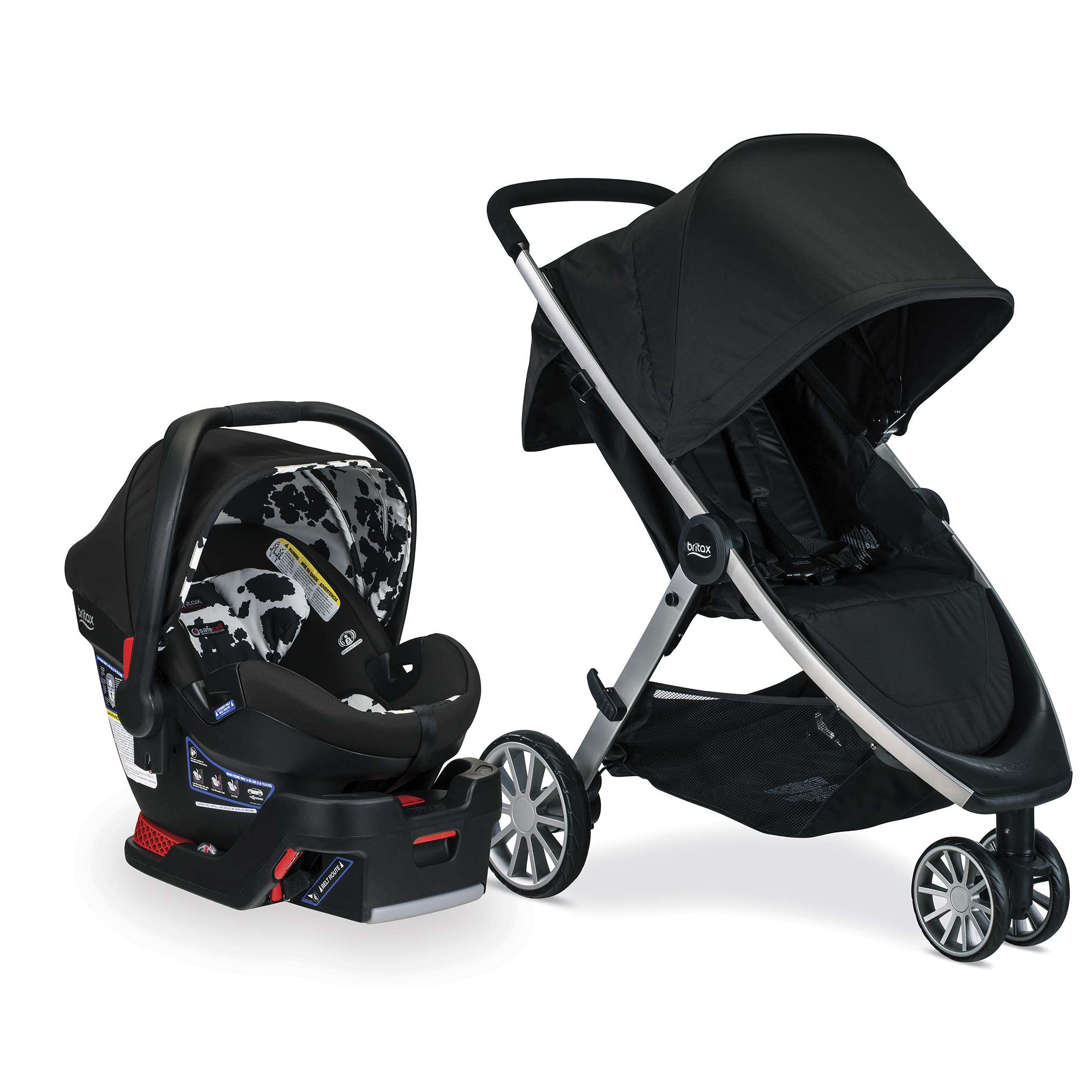 Britax B-Lively & B-Safe Ultra Travel System, Cowmooflage by Britax