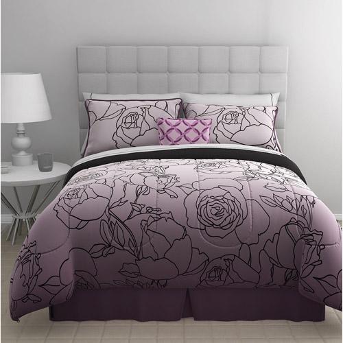 East End Living Stencil Rose 5-Piece Bedding Comforter Set