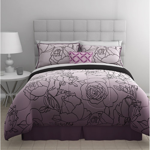 East End Living Stencil Rose 5-Piece Bedding Comforter Set