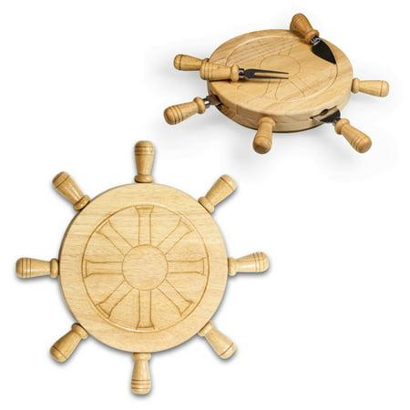 - Mariner-Shipwheel Design Cutting Board With Tools