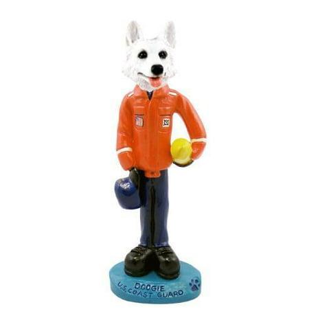 German Shepherd White U.S. Coast Guard Doogie Collectable Figurine