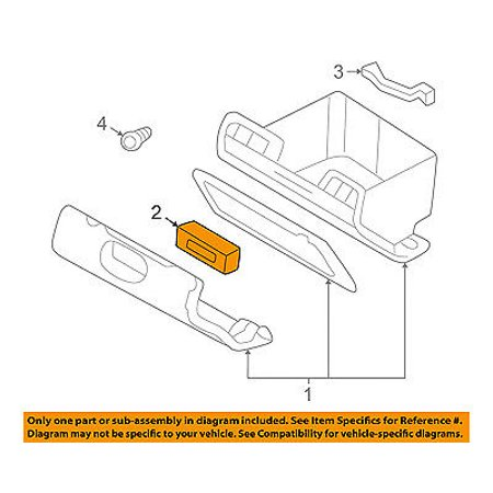 Dodge CHRYSLER OEM 97-00 Dakota Glove Compartment Box-Latch Assembly 5EM34LAZ