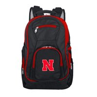 NCAA Nebraska Cornhuskers Premium Laptop Backpack with Colored Trim