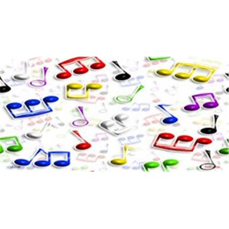Musical Notes Multi-Color License Plates Blanks Tags - image 1 of 1
