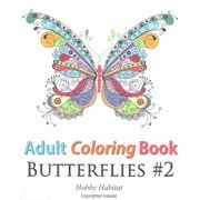 Adult Coloring Book Butterflies 2