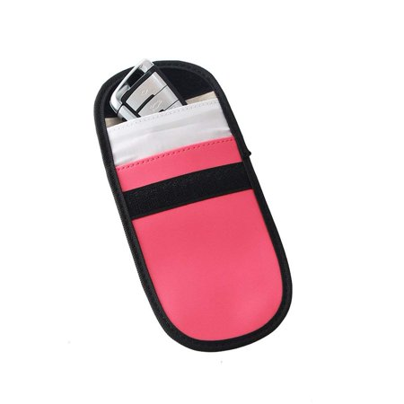 Key Fob Protector Device Shielding Pu Leather Cell Phone Anti-tracking  Anti-spying GPS Rfid Signal Blocker Pouch Car Key Remotes Handset Function  Bag