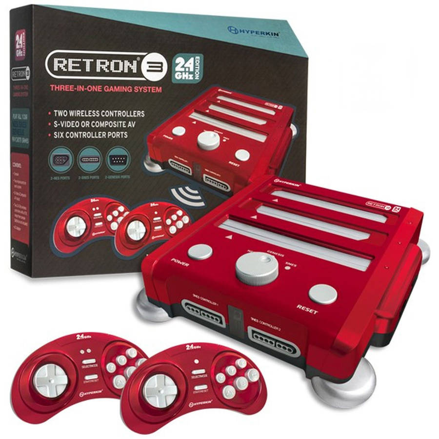 RetroN 3 Hyperkin 3-in-1 Console, Red