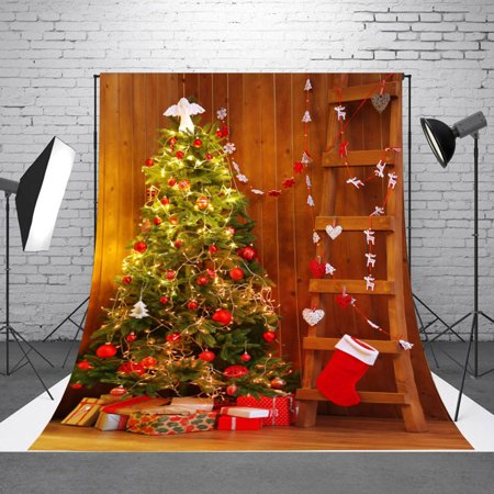 size 40 f4ad9 f6c8a NK HOME 7x5ft Christmas Backdrop Photography Studio Vinyl Indoor Christmas  Tree Backdrop Xmas Party Decoration Studio Background 20+ Colors
