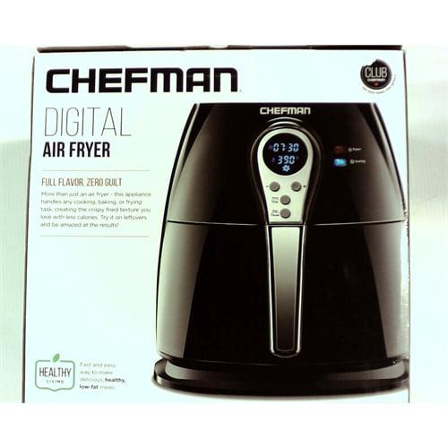 Chefman - Express 2.5L Digital Air Fryer - Black/Stainless Steel