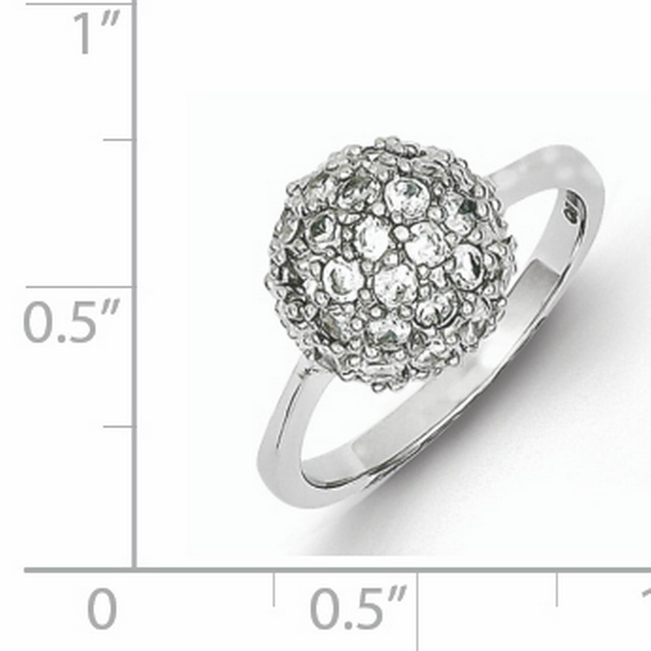 925 Sterling Silver Cubic Zirconia Cz Band Ring Size 8.00 Fine Jewelry Gifts For Women For Her - image 1 de 2