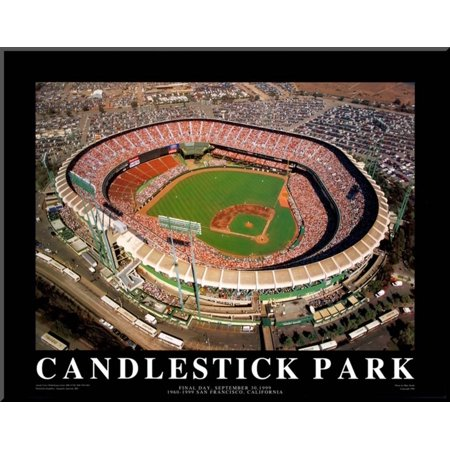 Candlestick Park - San Francisco, California Mounted Print By Mike Smith - 28x2