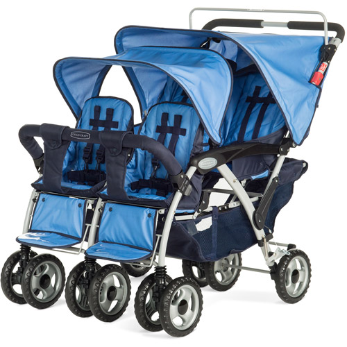 Child Craft Quad 4-Passenger Sport Stroller, Regatta Blue