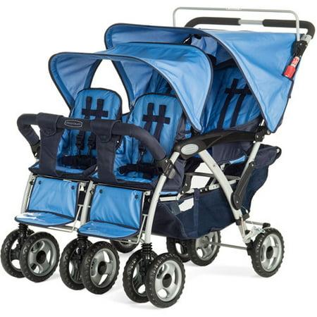 Child Craft Quad  Passenger Sport Stroller Regatta Blue
