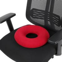 Inflatable Round Chair Pad Hip Support Hemorrhoid Seat Cushion With Pump(Red), Chair Cushion, Haemorrhoids Cushion