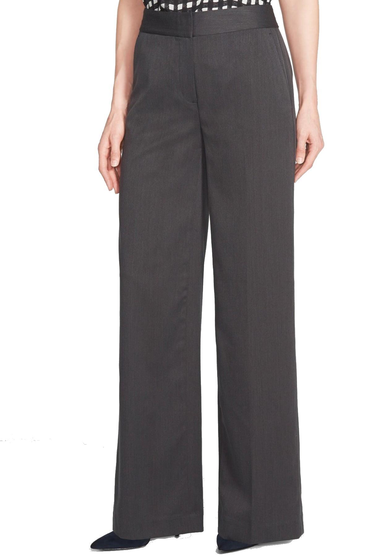 Chelsea28 Charcoal Women's Wide-Leg Dress Pants