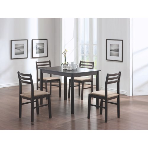 Monarch Dining Set 5Pcs Set / Cappuccino Veneer