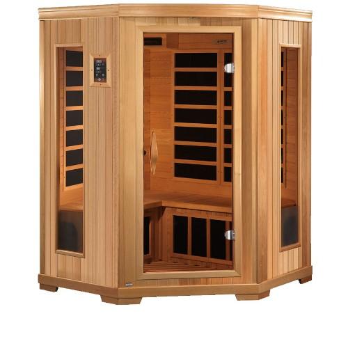 Golden Designs Corner Far Infrared Sauna, 3 Person HD Edition by Gold Design Saunas
