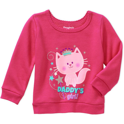 Garanimals Newborn Baby Girls' Graphic Fleece Top