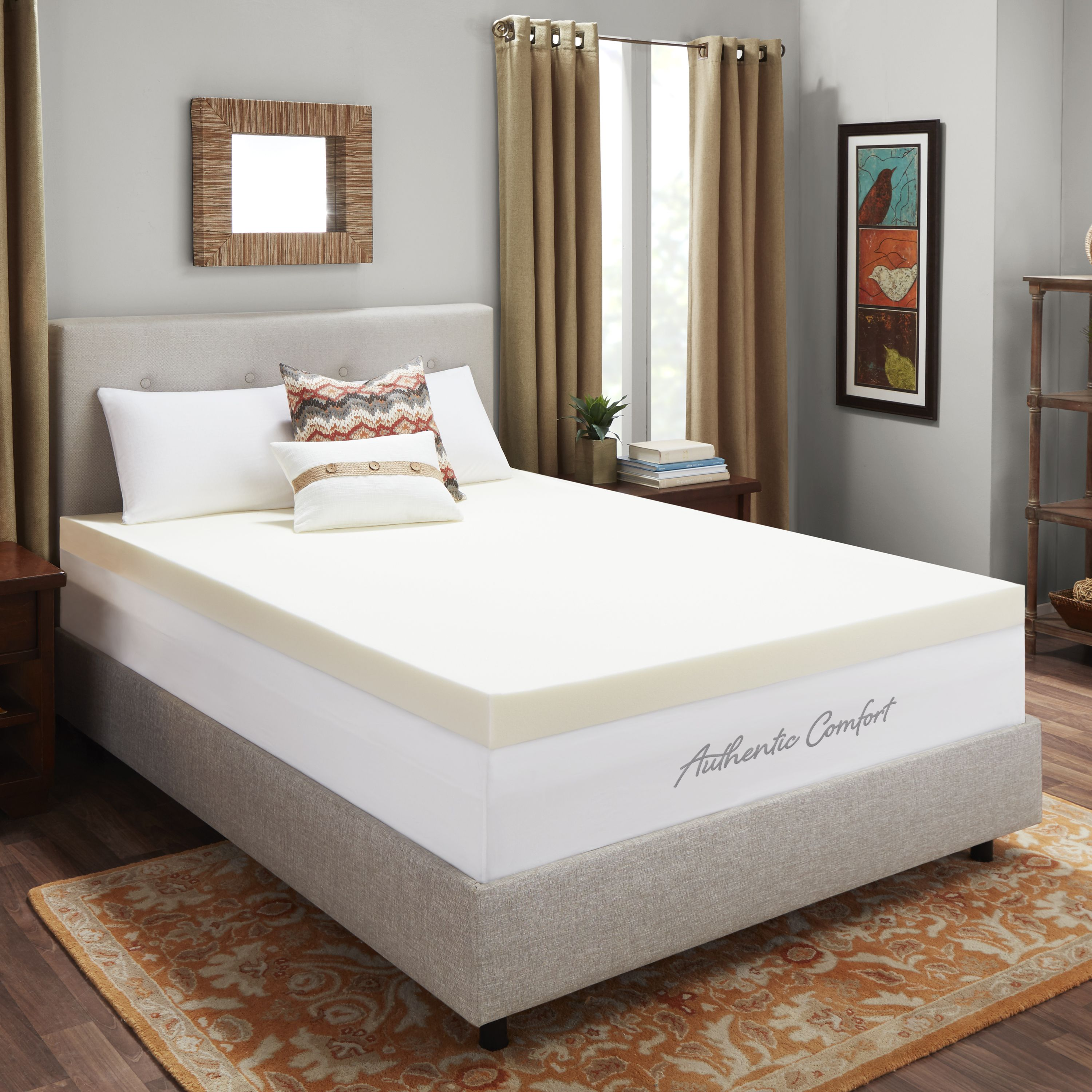 4-Inch Breathable Memory Foam Mattress Topper