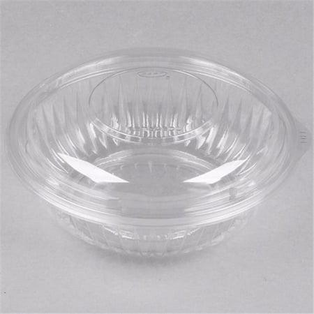 Bol de salade en plastique transparent jetable de 32 oz avec couvercle, CPC 32ROS, caisse de 300 - image 1 de 1