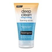 Neutrogena Deep Clean Invigorating Foaming Gel Face Scrub, 4.2 fl. oz