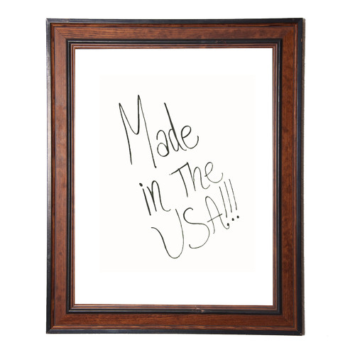 Rayne Mirrors Country Pine Wall Mounted Dry Erase Board