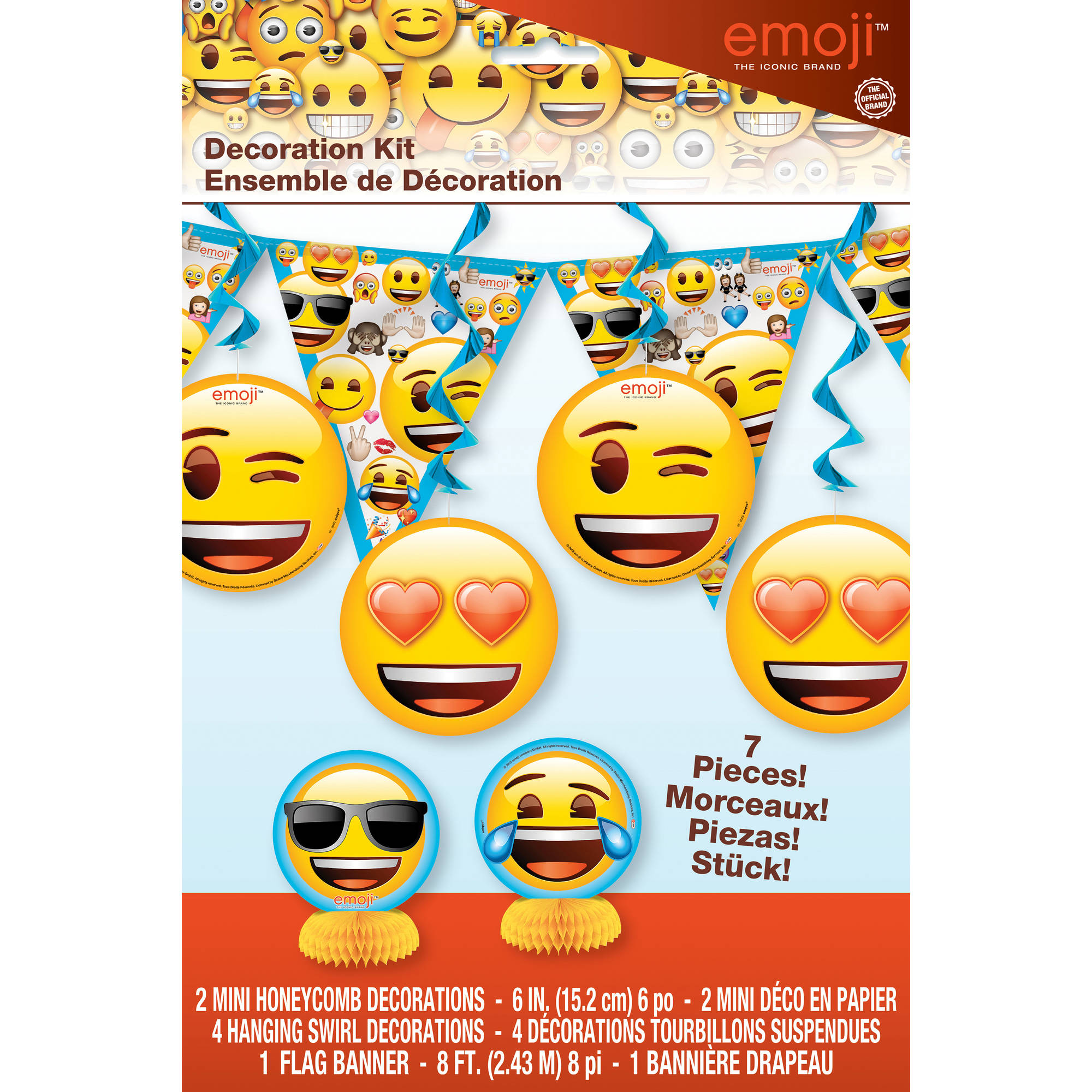 Emoji Party Decorating Kit 7pc