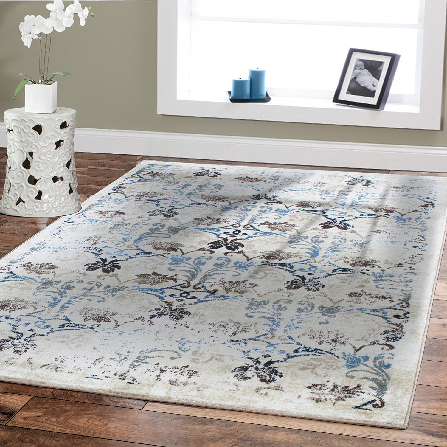 Premium Rugs Dining Room Rug for Under the Table 8 by 10 Floor Rugs  Clearance Cream 8x11 Distressed Rugs 8x10 Area Rugs on Clearance -  Walmart.com