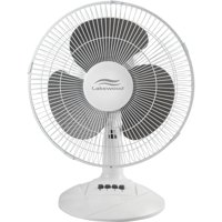 "Lakewood 12"" Oscillating Table Fan with 3 Speed Settings"