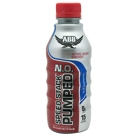 ABB Speed Stack Pumped N.O. Blue Raspberry, 22 Fl Oz, 12