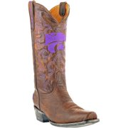 """Men's Tan Kansas State Wildcats 13"""" Boardroom Embroidered Boots"""