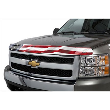 (Stampede 2044-41 Vigilante Premium Series Hood Protector with 'American Flag No Eagle' Pattern)