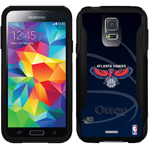 Atlanta Hawks Basketball blue Design on OtterBox Commuter Series Case for Samsung Galaxy S5