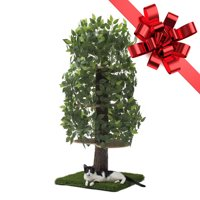 On2Pets Luxury 60 inch Square Cat Tree with Leaves