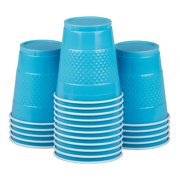 JAM Plastic Cups, 12 oz, Sea Blue, 20/Pack
