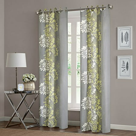 Home Essence Ally 100 Percent Cotton Printed Window Panel Available In Multiple Colors And Sizes (Cotton Window Panel)