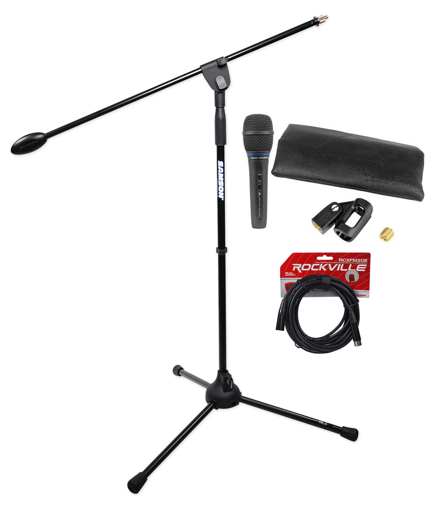 Audio Technica AE5400 Handheld Vocal Condenser Microphone Mic +Tripod Stand +XLR by Audio Technica