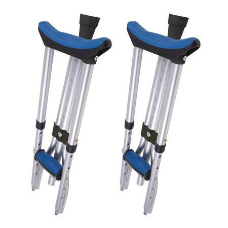 Carex Folding Crutches for Youth, Adult and Tall (Adult Bariatric Crutches)