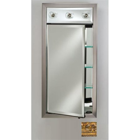 - Afina Corporation SD-LC1740RTUSGD 17x40 Contemporary Integral Lighted Single Door - Tuscany Gold