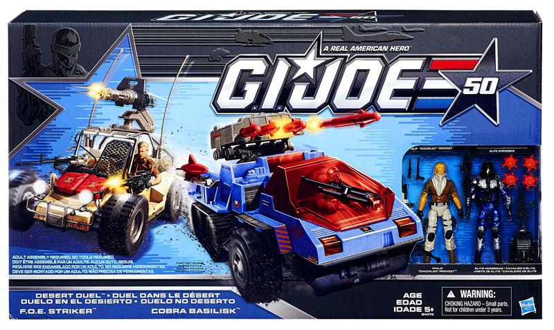 GI Joe 50th Anniversary Cobra in the Desert Duel Action Figure Vehicle Set by