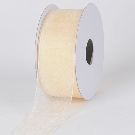 BBCrafts 5/8 inch x 25 Yards Sheer Organza Ribbon Decoration Wedding Party (Ivory), Ship in 1 Business Day. By - Ivory Ribbon