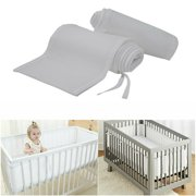 Onever Easy Breathe Baby Breathable Air Mesh Washable Crib Liner Wrap Nursery Cot Bed Bumper Set
