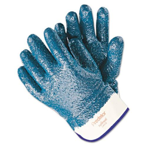 R3 Safety 9761R Predator Premium Nitrile-coated Gloves, Blue/white, Large, 12 Pairs