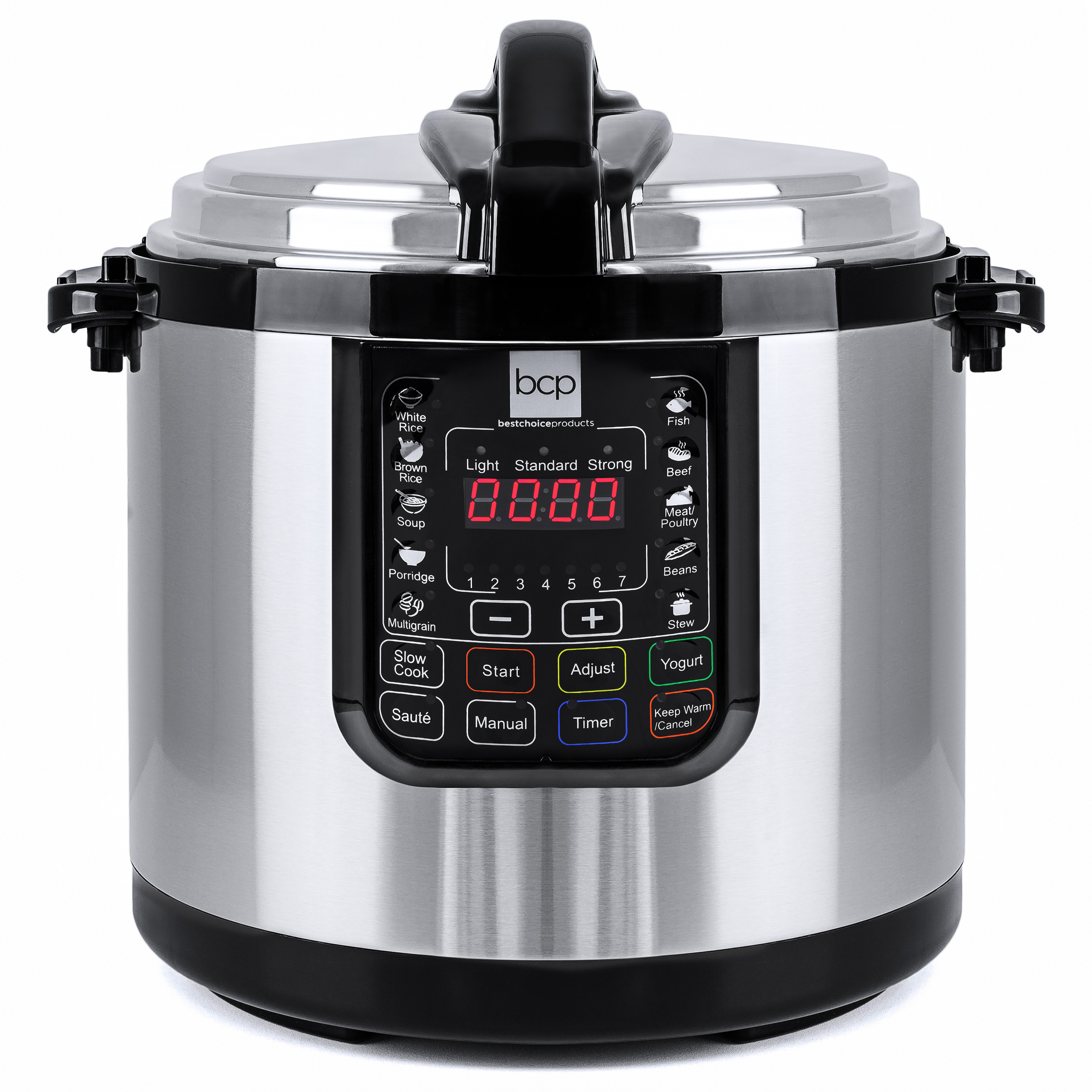 Best Choice Products 10-Liter 1000 Watt Stainless Steel Electric Pressure Cooker W/ LED