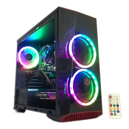 Gaming PC Desktop Computer Intel i5 3.20GHz,8GB Ram,1TB Hard Drive,Windows 10 pro,WiFi Ready,Video Card Nvidia GTX 650 1GB, 3 RGB Fans with