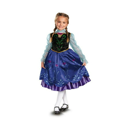 Disney Frozen Anna Toddler/ Girls Costume deluxe (Anna Frozen Costumes For Adults)