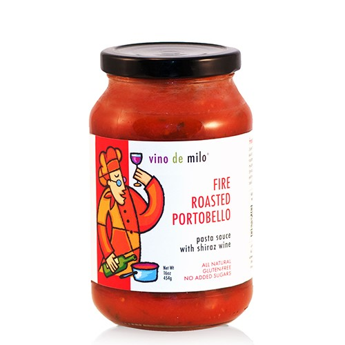 Vino de Milo No Sugar Added Pasta Sauce (16 oz) - Fire Roasted Portobello