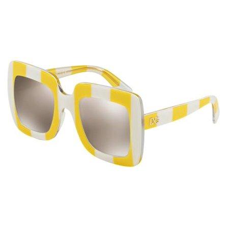 DOLCE & GABBANA Sunglasses DG 4263 30255A Stripe Yellow/White 50MM ()