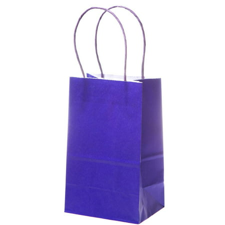 Small Purple Kraft Gift Bags - Small Gift Bags In Bulk